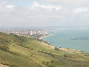 View over Eastbourne from Beachy Head